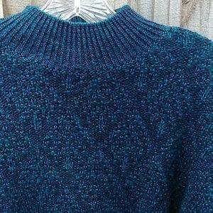 100% Wool  Nomadic Traders Blue Sweater lg